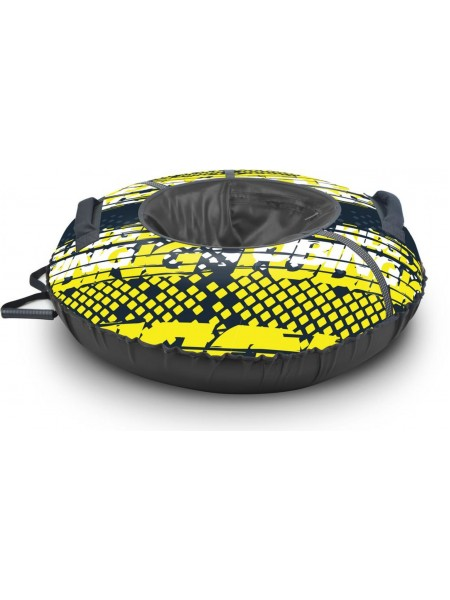 Детский тюбинг-ватрушка Nika Sport диаметр 85 цвет: лимонный