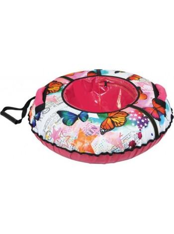 Детский тюбинг-ватрушка Nika диаметр 85 цвет: Бабочки