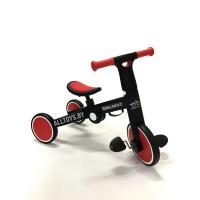 Детский Велосипед-беговел складной (3 в 1) цвет: черно-красный T801