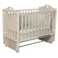 """Кровать детская деревянная с универсальным маятником + накладки-грызунки """" Grace 2"""" цвет: слоновая кость"""