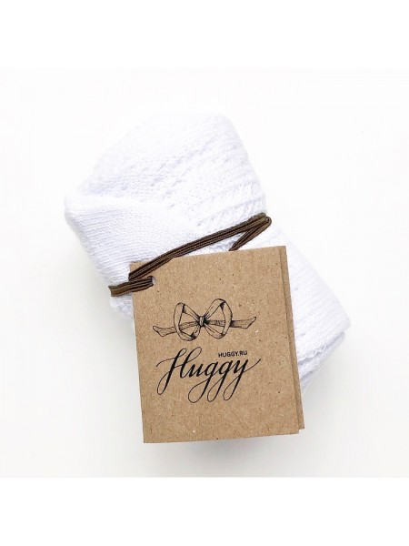 Детские колготки для малыша Huggy р. 105 цвет: белый ажур