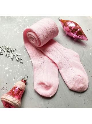 Детские колготки для малыша Huggy р. 105 цвет: розовый ажур