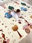 """Детский развивающий двусторонний коврик для игр (198*178 см.) """"Олени"""" (32375-Б4)"""