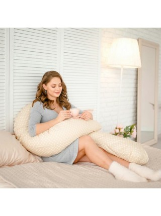 Подушка для беременных U-образной формы Martoo Mommy-U цвет: Бежевый горошек