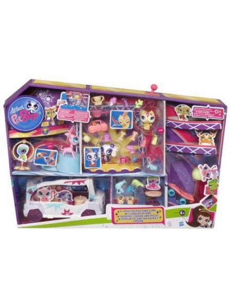 Игровой набор Талантливые зверюшки на лимузине Маленький Зоомагазин Littlest Pet Shop Хасбро \ Hasbro A0410