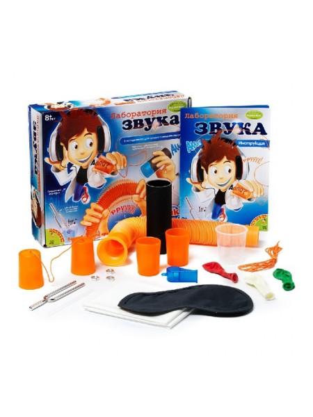"""Детский игровой набор французских опытов """" Лаборатория звука """" 8 экспериментов Bondibon 0926"""