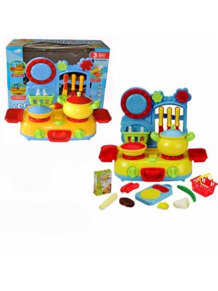 """Детский игровой набор """" Кухня с плитой , кострюлей, продуктами и аксессуарами"""" 08031"""