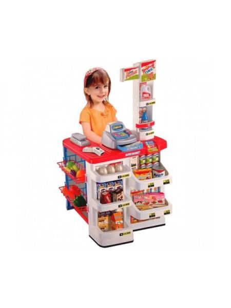 """Детский игровой набор """" Супермаркет """" с кассой, корзиной для покупок и продуктами 668-02"""