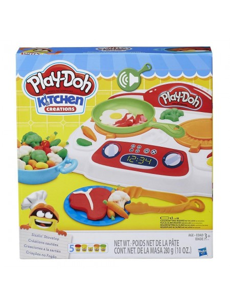 """Детский игровой набор пластилина с аксессуарами """" Кухонная плита """" Play Doh \Плэй До Hasbro \ Хасбро 9014"""