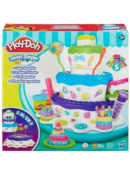 """Детский игровой набор пластилина """" Праздничный торт """" Play Doh Hasbro \ Хасбро 7401"""