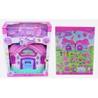 """Детский игровой набор """" Домик для кукол со звуковыми эффектами """" складывается в чемоданчик + мебель для кукол 666-673-1"""