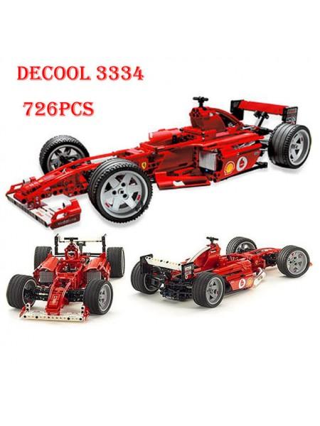 """Детский игровой набор конструктор """" Формула Гоночный автомобиль """" 726 деталей Decool 3334"""