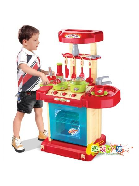 """Детский игровой набор """" Кухня. Kitchen Set """" + аксессуары со звуком и светом в чемодане 008-58А"""