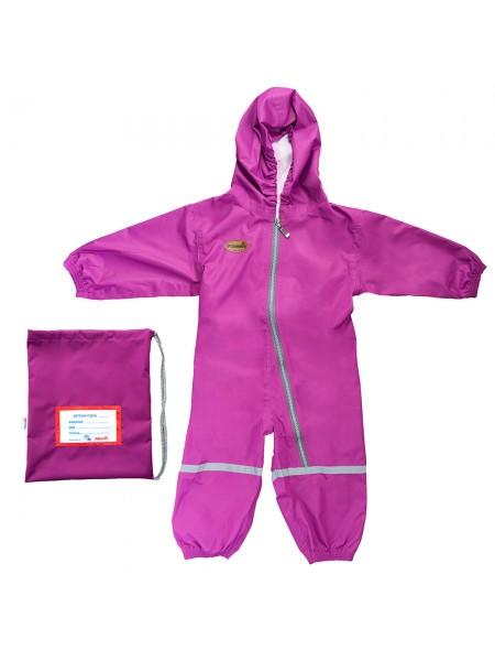 Детский мембранный непромокаемый грязезащитный комбинезон Mammie 2-3 года цвет: сиреневый 17-780812