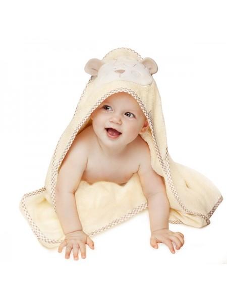 """Детское махровое полотенце """" Мишутка"""" 90*90 Perina цвет: бежевый ПД-02.95"""