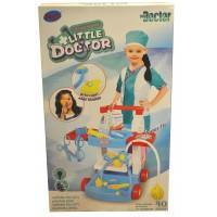 """Детский игровой набор с тележкой """" Доктор """" с аксессуарами + световые и звуковые эффекты 969-18B"""