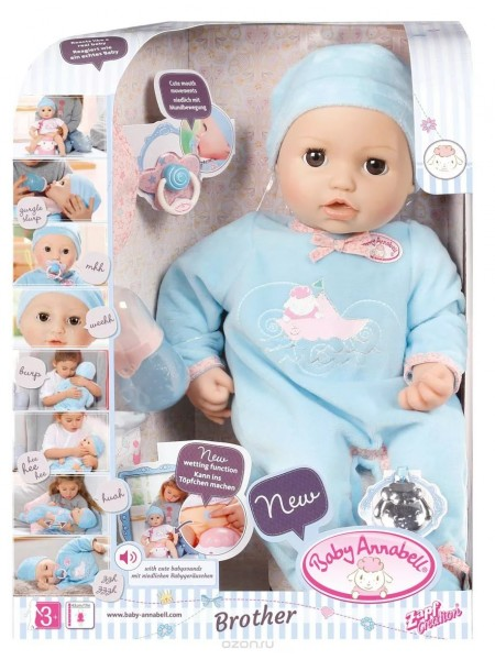 """Детская интерактивная Кукла Baby Annabell \ Бэби Аннабель Zapf Creation """" Братик """" 43 см 794654"""