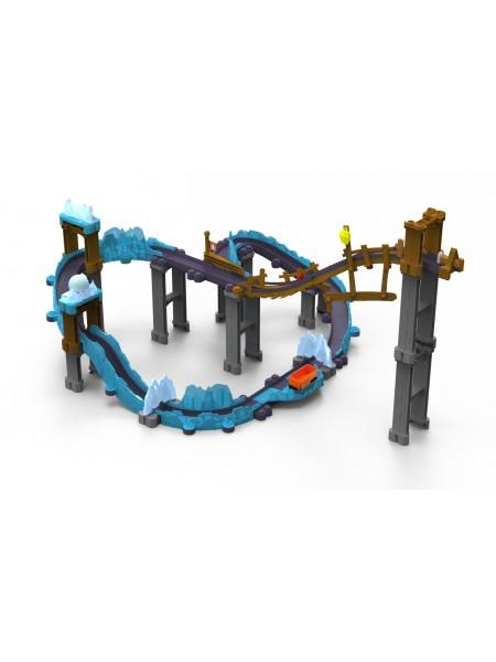 """Игровой набор """" Ледяная Пещера (Коко с прицепом) """" паровозикик Chuggington Die-Cast Чаггингтон 54224"""