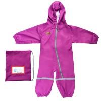 Детский мембранный непромокаемый грязезащитный комбинезон Mammie 3-4 года цвет: сиреневый 17-780812